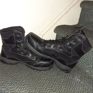 Mens Black Steel Toe Boots